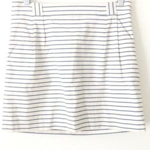 The Limited Striped Skirt White 6
